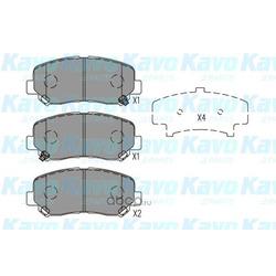 Комплект тормозных колодок (kavo parts) KBP4563