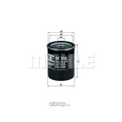 Масляный фильтр (Mahle/Knecht) OC218