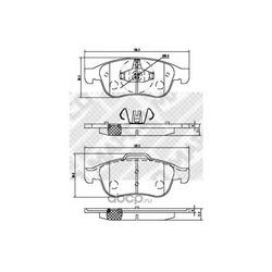 Комплект тормозных колодок, дисковый тормоз (Mapco) 6884