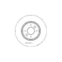 Тормозной диск (Mapco) 15117