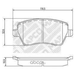 Комплект тормозных колодок, дисковый тормоз (Mapco) 6758
