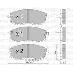 Комплект тормозных колодок, дисковый тормоз (Metelli) 2204040