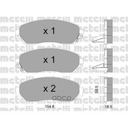 Комплект тормозных колодок, дисковый тормоз (Metelli) 2209030