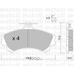 Комплект тормозных колодок, дисковый тормоз (Metelli) 2202160