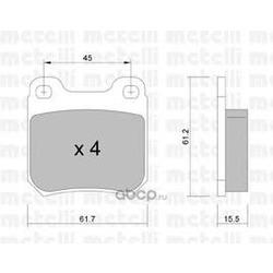 Комплект тормозных колодок, дисковый тормоз (Metelli) 2202750