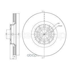 Тормозной диск (Metelli) 230726C
