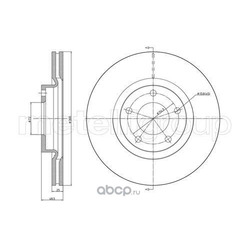 Тормозной диск (Metelli) 230730C