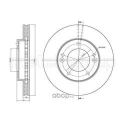 Тормозной диск (Metelli) 230776C