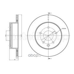 Тормозной диск (Metelli) 230797C