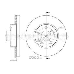 Тормозной диск (Metelli) 230830C