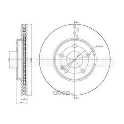 Тормозной диск (Metelli) 230832C