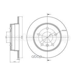 Тормозной диск (Metelli) 230833C