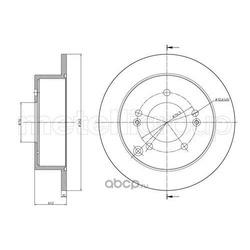 Тормозной диск (Metelli) 230869C