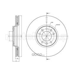Тормозной диск (Metelli) 230886C