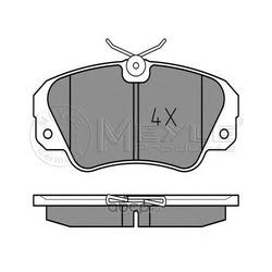 Комплект тормозных колодок, дисковый тормоз (Meyle) 0252136819
