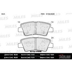 Колодки тормозные HYUNDAI SOLARIS 10-/SONATA V (NF) 05-/KIA SOUL 09- задние (Miles) E110062