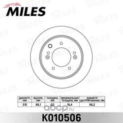 Диск тормозной KIA SORENTO 02-09 задний (Miles) K010506