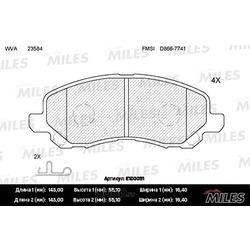 Колодки тормозные MITSUBISHI ASX/LANCER/OUTLANDER/DODGE CALIBER передние (Miles) E100051