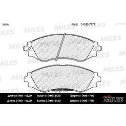 Колодки тормозные CHEVROLET LANOS/LACETTI/REZZO/DAEWOO NEXIA/NUBIRA/LEGANZA пер. (Miles) E100014