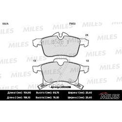 Колодки тормозные OPEL ASTRA G/H/ZAFIRA A передние (Miles) E100058