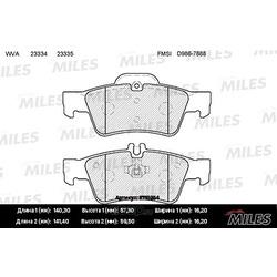 Колодки тормозные MERCEDES-BENZ W211/W212/W220/W221/R230 задние (Miles) E110254