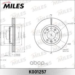 Диск тормозной PEUGEOT 407 04-/607 05-/508 10- передний вент.D=283мм. (Miles) K001257