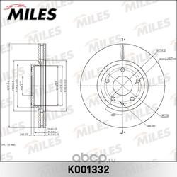 Диск тормозной MAZDA CX-5 11- передний вент. (Miles) K001332