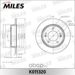 Диск тормозной HYUNDAI i30/KIA CEED 12- задний D=262мм (Miles) K011320