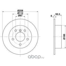 Тормозной диск (Mintex) MDC1422