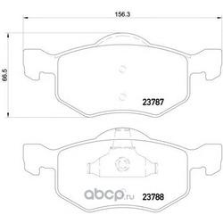 Комплект тормозных колодок, дисковый тормоз (Mintex) MDB2083