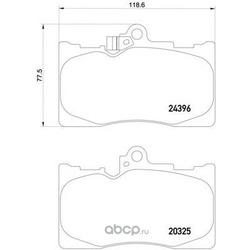 Комплект тормозных колодок, дисковый тормоз (Mintex) MDB2727