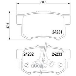 Комплект тормозных колодок, дисковый тормоз (Mintex) MDB2710