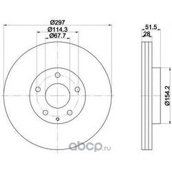 Тормозной диск (Mintex) MDC2536