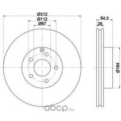 Тормозной диск (Mintex) MDC1617