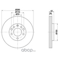 Тормозной диск (Mintex) MDC1050