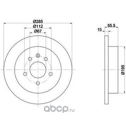 Тормозной диск (Mintex) MDC1360