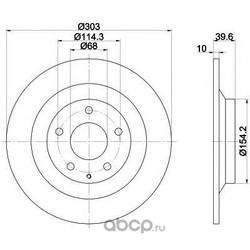Тормозной диск (Mintex) MDC2388