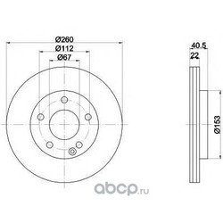 Тормозной диск (Mintex) MDC1035