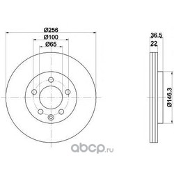 Тормозной диск (Mintex) MDC1019