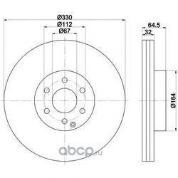 Тормозной диск (Mintex) MDC1788
