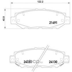 Комплект тормозных колодок, дисковый тормоз (Mintex) MDB1710