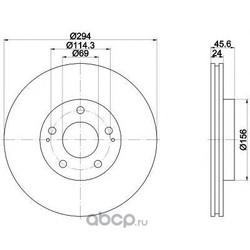 Тормозной диск (Mintex) MDC1385