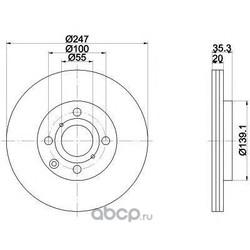 Тормозной диск (Mintex) MDC1733