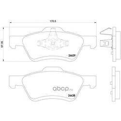 Колодки тормозные дисковые передние комплект (Mintex) MDB2626