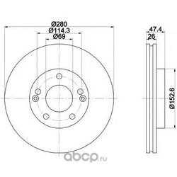 Тормозной диск (Mintex) MDC1780