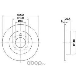Тормозной диск (Mintex) MDC1470