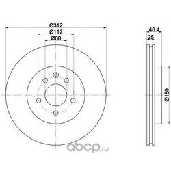 Тормозной диск (Mintex) MDC1540