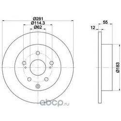 Тормозной диск (Mintex) MDC1826