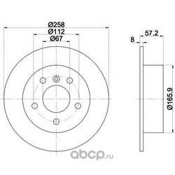 Тормозной диск (Mintex) MDC1846