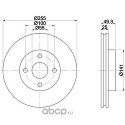 Тормозной диск (Mintex) MDC1587